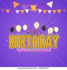 happy birthday celebration design vector ornament stock vector
