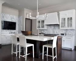 charming transitional white kitchen cabinets with white wall glass