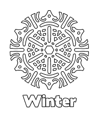 winter snowflake coloring pages winter coloring pages of