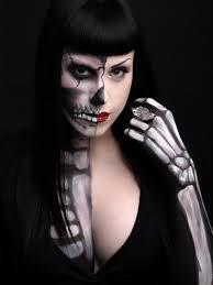 Halloween Skull Makeup Tutorial Cute Half Skull Makeup Skull Makeup Tutorial Costumes