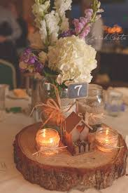 Log Centerpiece Ideas by Cute Centerpiece There Is Also A Really Cute Wedding Cake Table