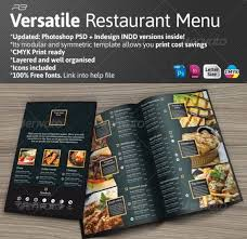 photoshop menu template 40 psd indesign food menu templates for restaurants