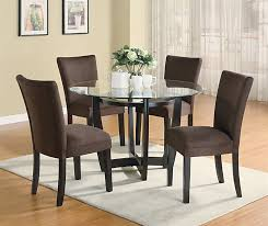 Modern Round Dining Room Set With Brown Chairs Casual Dinette Sets - Round dining room table and chairs