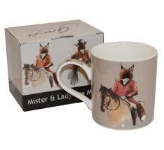 fox mug mister and lady fox boxed mug