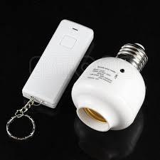 remote control light bulb socket 10m wireless remote control e27 light l bulb holder cap