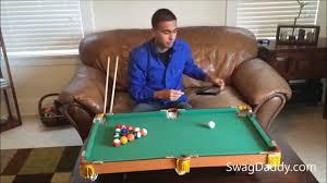 Pool Tables Games Club Fun Tabletop Mini Pool Table Swagdaddy Youtube