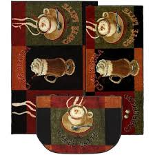 optic squares 3 piece rug set free shipping on orders over 45