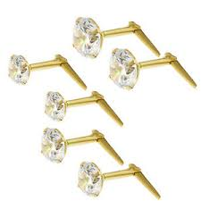andralok earrings 9ct gold andralok white cubic zirconia stud earrings 3