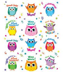 Owl Decorations by Colorful Owl Motivators Motivational Stickers Classroom Décor