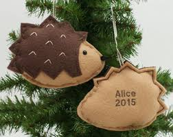 hedgehog ornament etsy