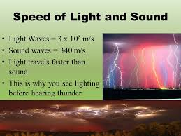What Travels Faster Light Or Sound Waves Physical Science What Is A Wave Movement Of Energy Through