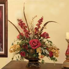 Silk Flower Arrangements For Dining Room Table Custom Designs Floral Home Decor Silk Flowers Silk Flower