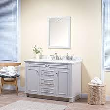 delicate maykke abigail 48 inch bathroom vanity set in birch wood