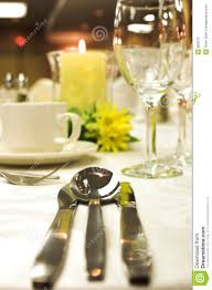 Setting Formal Dinner Table Formal Dinner Setting Stock Photo Image Of Cutlery Romantic 809372