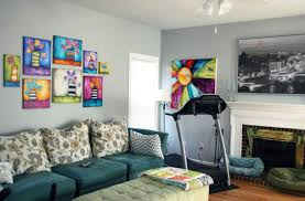 treadmill in living room finally art in my home simply me