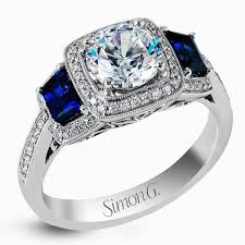 engagement rings sapphires images Simon g halo diamond sapphire engagement ring jpg