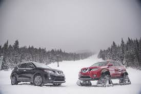 nissan rogue tire size nissan rogue warrior concept trades tires for tracks