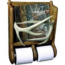 antler magazine rack w tp holder legendary whitetails