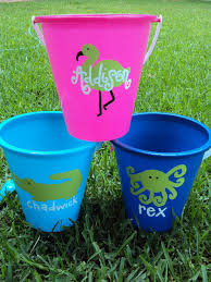 personalized buckets diy personalized sand buckets for the kids to do ideas