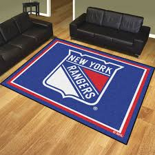 Area Rugs Nyc New York Rangers 8 X 10 Ultra Plush Carpet Area Rug Floor Mat