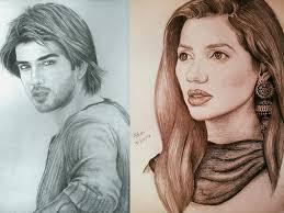 pakistani celebrities beautiful handmade sketches archives