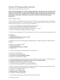 Multiple Choice Questions For Fashion 100 Items Ob Nursing Questions Answer Key Pelvis Childbirth