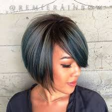 one side stack sassy bob bllack hair 40 layered bob styles modern haircuts with layers for any occasion