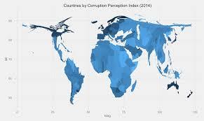 Corruption Map Cartogram Plotting Using R