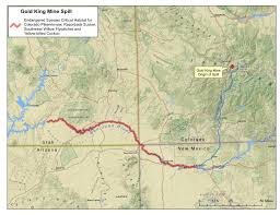 Map Of Colorado River by Huge Mine Spill Fouls Colorado U0027s Animas River Raising Endangered