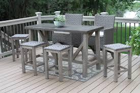 alluring extraordinary design bar height outdoor furniture patio set