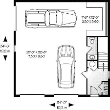 Garage Size Perfect 3 Car Garage Floor Plans Houses House Bedroom Two Bath