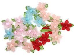 organdy ribbon organza organdy ribbon flower bow appliques craft wedding diy