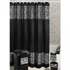 Black And Grey Curtains Dazzle Up Your Bathing Space With These Extravagant Black Grey