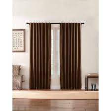 Curtain Holdbacks Home Depot by Home Decorators Collection Semi Opaque Brown Textured Thermal Back