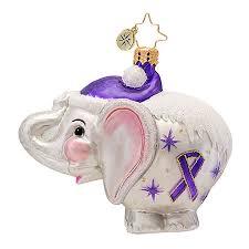 radko ornaments charity alzheimers awareness ornament ellie