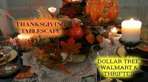 thanksgiving tablescape dollar tree walmart thrifted