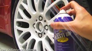 plastidip spray on wheels to matte white youtube