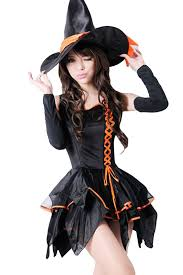 Witch Halloween Costumes Adults Womens Good Gothic Witch Halloween Costume Black Pink Queen