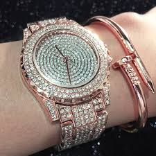 silver bracelet watches images Hmmwv luxury diamond watches for women ladies silver bracelet jpg