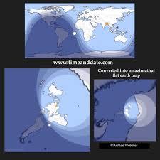 Azimuthal Map Azimuthal Equidistant Map U2013 Flat Geocentric Earth