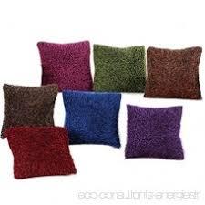 taie coussin canapé doux flanelle couvre lit taie d oreiller housse de coussin