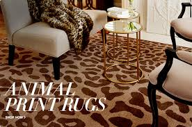 Leopard Print Rug Living Room Shop Animal Print Rugs Square Light Brown Animal Printrugs White