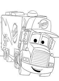 a truck for keeping mc queen disney cars coloring pages coloring