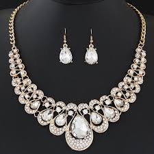pendant necklace earrings images Crystal pendant necklace earrings set wedding jewelry free jpg