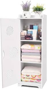 narrow storage cabinet for kitchen freestanding bathroom floor cabinet white waterproof