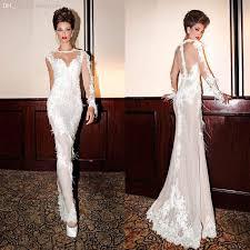 discount high neck sheer wedding dresses 2014 floor length