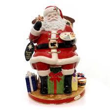 christopher radko midnight treats santa cookie jar christmas