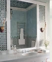 blue and black geometric tiles design ideas