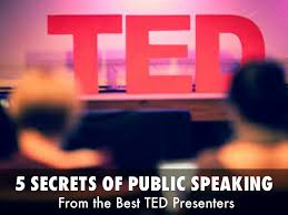 5 secrets of public speaking from the best ted