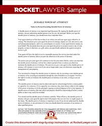 power of authority template power of attorney form poa template rocket lawyer